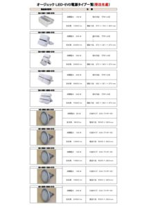 LED EVD電源タイプ 受注生産